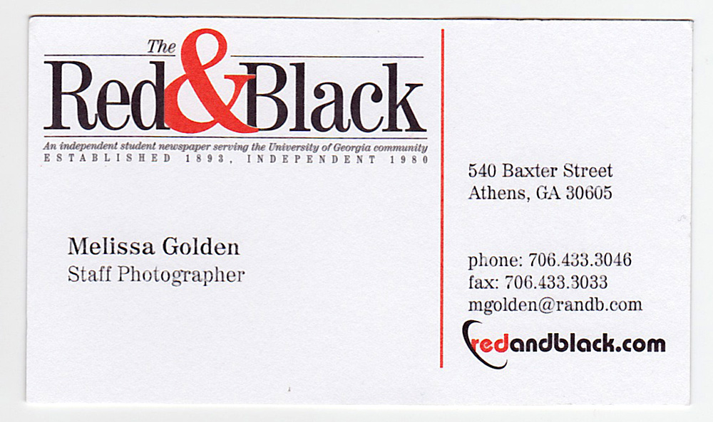 My Business Cards – A Sentimental Journey – The Golden Hour