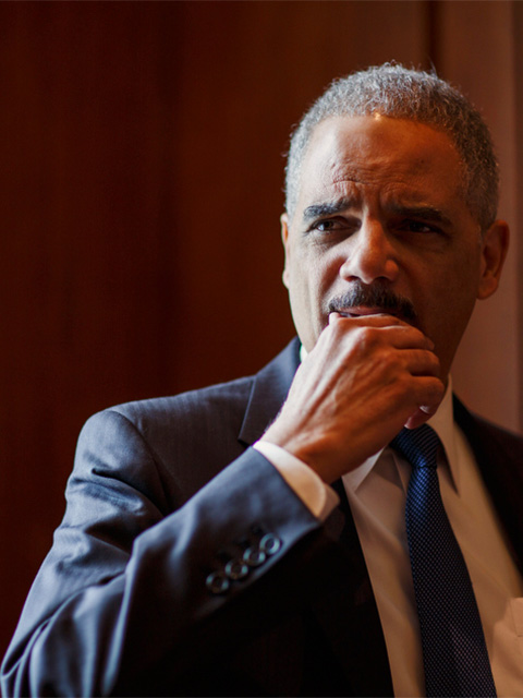 Attorney General Eric Holder is photographed at the Department of Justice in Washington, D.C. on Friday, March 7, 2014.